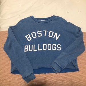 BOSTON BULLDOGS CROPPED SWEARSHIRT